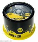 MAXELL CDR 50 Pack Spindle Cake Cased Recordable Blank CD's PC Laptop - 50 Discs