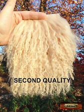 M01135 MOREZMORE Tibetan Lamb Fur FLAXEN BLONDE Seconds Doll Hair Wig A60