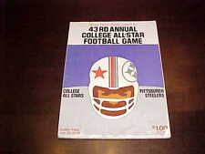 1976 College All Stars v Pittsburgh Steelers Football Program Soldier Field 7/23