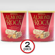 2-Pack Brown and Haley Almond Roca Buttercrunch Toffee Chocolate Candy 10 oz Can