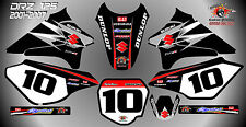 suzuki drz125 decals graphics laminated stickers motocross mx 125 black 01-07