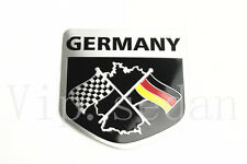 1PCS UNIVERSAL CAR GERMANY RACING FLAG SHIELD SHAPE ALUMINIUM BODY BADGE EMBLEM