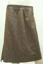 Vtg Burberrys Italy Brown Multicolored Wool Cashmere Skirt 48