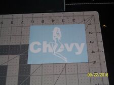 """Chevy with Chick 5"""" Vinyl Decal sticker laptop windows wall car boat"""