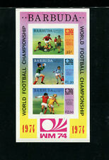 Barbuda 1974 Soccer/Football World Cup Scott 166a IMPERF Souvenir Sheet