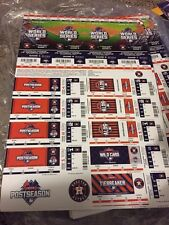 2015 HOUSTON ASTROS FULL PLAYOFF WORLD SERIES TICKET STRIP STUB ROYALS CORREA