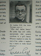 Jackdaw Stockings Laddie Cliff 1930 Advertisement Ad 8302