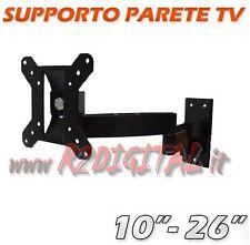 SUPPORTO TV BRACCIO PARETE 16 17 19 20 22 24 23 25 26 POLLICI LCD LED 3D PLASMA