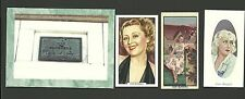Joan Blondell Fab Card Collection The Blue Veil American film TV actress  blonde