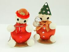 Vintage Japanese Clowns Handmade Christmas Ornament Holiday Tree Decoration Lot