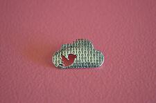 925 Sterling Silver Cloud Pendant Charm w/ Cut Out Bird Shape - Cloud Pendant