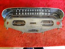 1958 Chevrolet Impala Bel Air 348 Convertible Gauge Cluster Showing 52,423 Miles