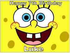 "Spongebob Squarepants A4 Personalised Cake Topper Edible Wafer Paper 7.5"" By 10"""