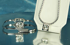 RARE! SARAH COVENTRY HOSTESS SET~RHINESTONE Necklace & Hinged Bracelet~EX COND!!