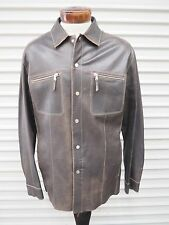 MEN'S GIMO'S LIGHTWEIGHT BROWN LEATHER JACKET - ITALIAN SIZE 50 / US 40