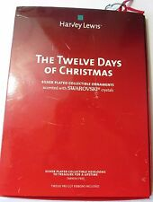 The Twelve Days of Christmas Ornaments with Swarvoski Crystals by Harvey Lewis