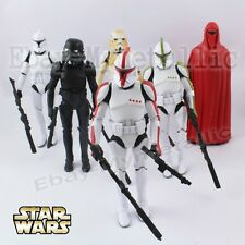 6pcs Star Wars Clone Troopers/Shadow Stormtrooper/Red Guard 15-17cm PVC Figure