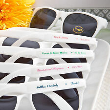 40 - Personalized White Sunglasses - Beach Themed Wedding and Party Favor