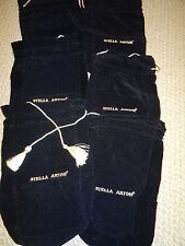 Stella Artois Black Chalice Bag New embroidered will pull strings Pack of 6