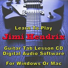 JIMI HENDRIX Guitar Tab Lesson CD Software - 110 Songs