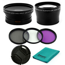 67MM 0.43x WIDE ANGLE,2X TELE LENS,UV-CPL-FLD FILTERS for Nikon P500 P510,NEW