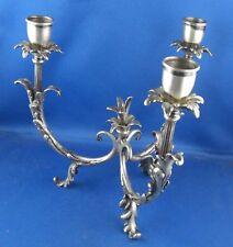 Antiker Kerzenständer 3-flammig Design 800er Silber Punze unleserlich