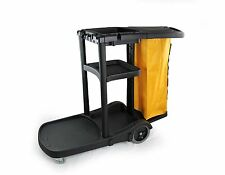 Industrial Housekeeping Janitorial Service cart with Vinyl Bag