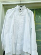 Formal After Hours Tuxedo Solid Men's Tux Shirt M4/5 White Polyester Classic Fit