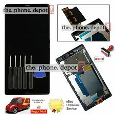 For SONY Xperia Z LT36i LT36H C6603 LCD Display Digitizer & Touch Screen & Frame