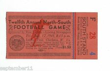 Twelfth Annual North-South Football Game Laidley Field Charleston, WVA  F4 1945