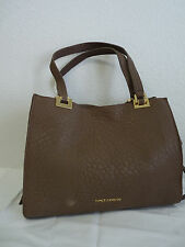 Vince Camuto Adela Satchel in Chai Latte Brown Lamb Leather