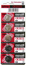 Genuine 5 x Maxell Battery CR2025 Lithium 3V Cell Coin Button Batteries UK SELL