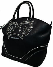 Borsa Donna Shopping Bag Versace Jeans Donna Fashion Bag Strass Black