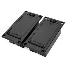 2pcs 9V Battery Box Case Holder For Active Guitar Bass Pickup