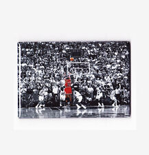 MICHAEL JORDAN / FLU GAME LAST SHOT - POSTER FRIDGE MAGNET nike air costacos nba