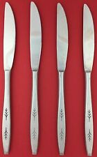 Set of 4 Ekco ETERNA EKS21 Japan Stainless Leaf Sprigs Butter DINNER KNIVES 8.5""