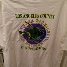 LASD police off duty T Sheriff Deputy Air support shirt Helicopter Size XL New