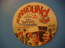 2000 Beer Coaster ~ GUINNNESS & BASS ~ Play A Round & Win; Adams Golf Tight Lies