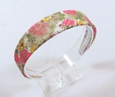Sparkly Lacey Floral 1 1/4 inch wide smooth Women's Headband colorful D