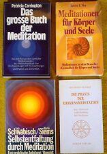 4 x Bücher über Meditation - Geheimnisse der Esoterik