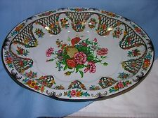 Vintage Daher Decorated Ware - Oval Tin Serving Tray - England