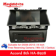 8 inch HONDA ACCORD 2008-2012 8TH GEN Car DVD GPS Player Stereo Head Unit