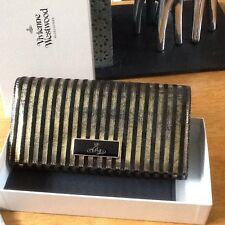 Vivienne Westwood Genuine Antique Look Gold And Black Striped Purse