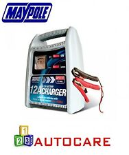 Maypole Battery Charger 12A 6V/12V Over 1800CC Car Van Motorbike Boat