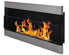 BIO ETHANOL FIREPLACE | 900x400 mm | IRON WITH GLASS  | ECO FIRE BURNER