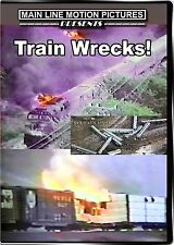 TRAIN WRECKS MAIN LINE MOTION PICTURES NEW DVD VIDEO NS, AMTRAK, CIRCUS