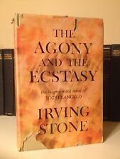 The Agony and the Ecstasy A Novel of Michelangelo by Irving Stone First Edition