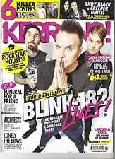 KERRANG #1622 BLINK 182:ANDY BLACK:LACUNA Coil:Funeral For A Friend + POSTERS