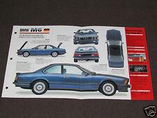 1985-1989 BMW M6 (1986) Car SPEC SHEET BROCHURE PHOTO BOOKLET