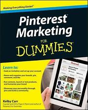 PINTEREST MARKETING FOR DUMMIES - KELBY CARR (PAPERBACK) NEW